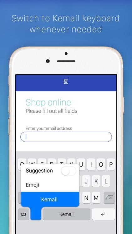 Kemail — keyboard to paste email addresses screenshot-3