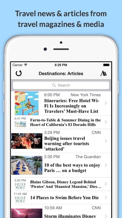 Destinations: Explore the World & Plan Your Next Trip! screenshot-3