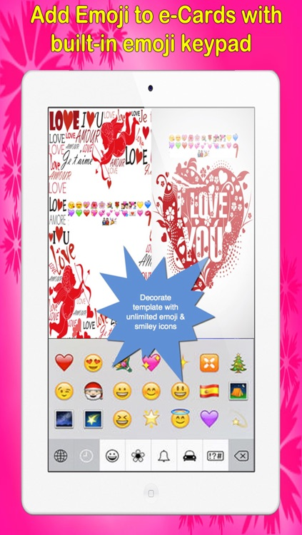 Love e-Cards and Wallpapers Maker.Customising and sending romantic love and valentine cards screenshot-2