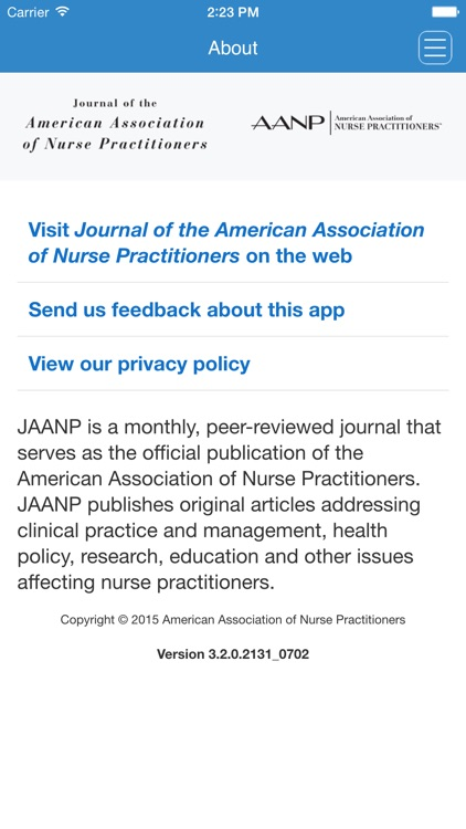 Journal of the American Association of Nurse Practitioners screenshot-4
