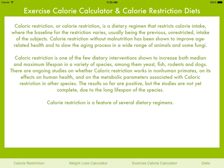 Exercise Calories Calculator screenshot-4