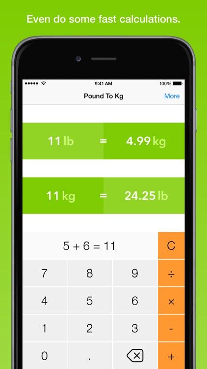 Pound To Kg, the fastest weight converter screenshot-4