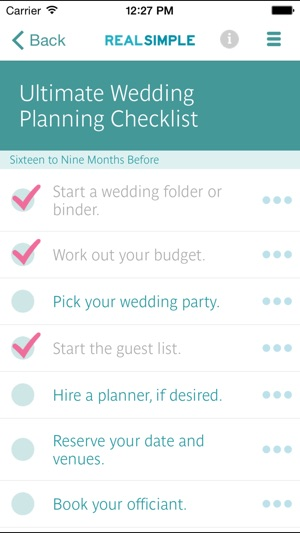Real simple wedding checklists on the app store junglespirit Image collections