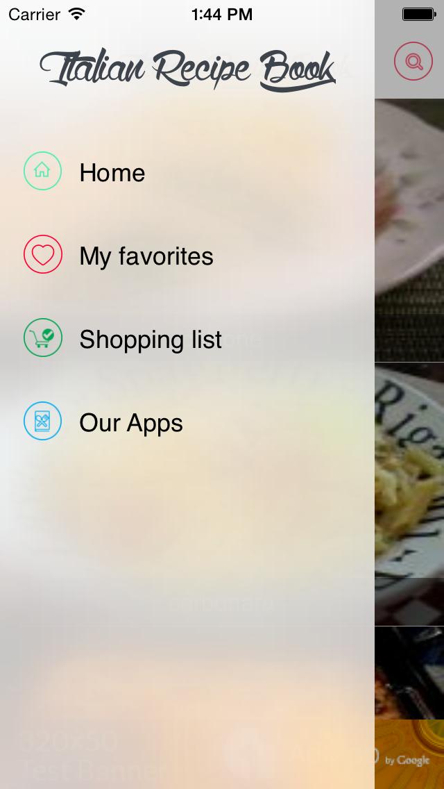 Italian recipes free screenshot one