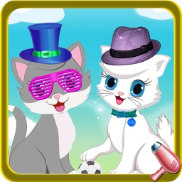 Fluffy Kitty Cat Pet Dress up Salon