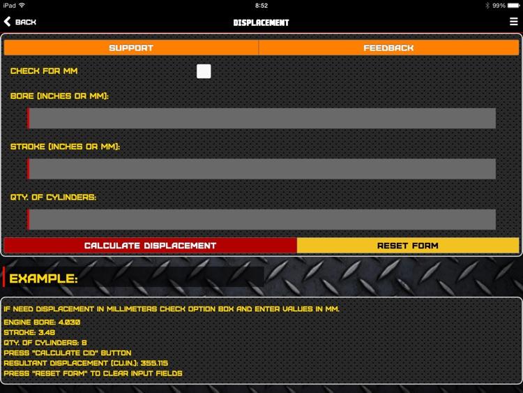 "Engine ToolBox Calculator ""for iPad"""
