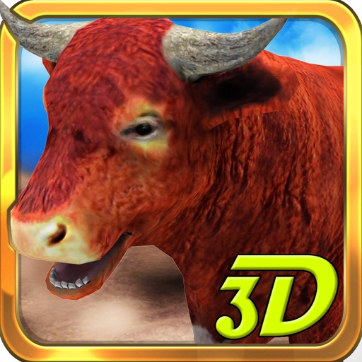 3D Bull Simulator – Angry animal simulator and city destruction simulation game Icon