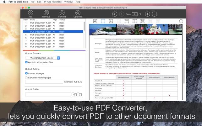 pdf to word free をmac app storeで