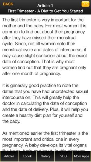 A diet plan for pregnancy