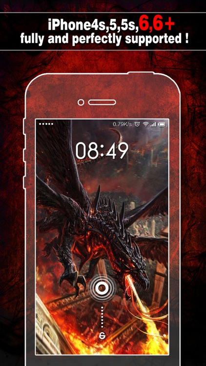 Dragon Wallpapers, Backgrounds & Themes - Home Screen Maker with Cool HD Dragon Pics for iOS 8 & iPhone 6 screenshot-0