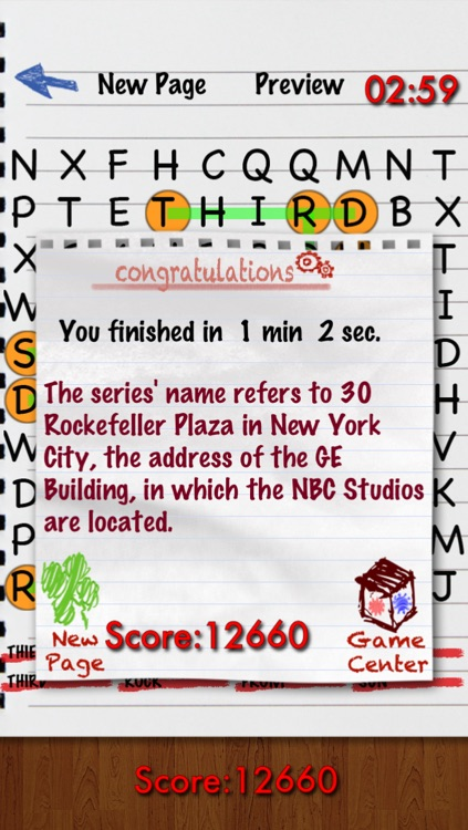 Word Search  -( WordSearch Trivia Puzzle )