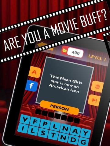 Movie Trivia Quiz: Guess pop movie stars, actors, actresses.  New fun puzzles!-ipad-0