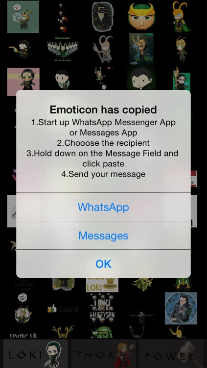 Stickers for WhatsApp, Viber, Line, Tango, Kik, Snapchat & WeChat Messenges  - Thor and Loki Pro edition