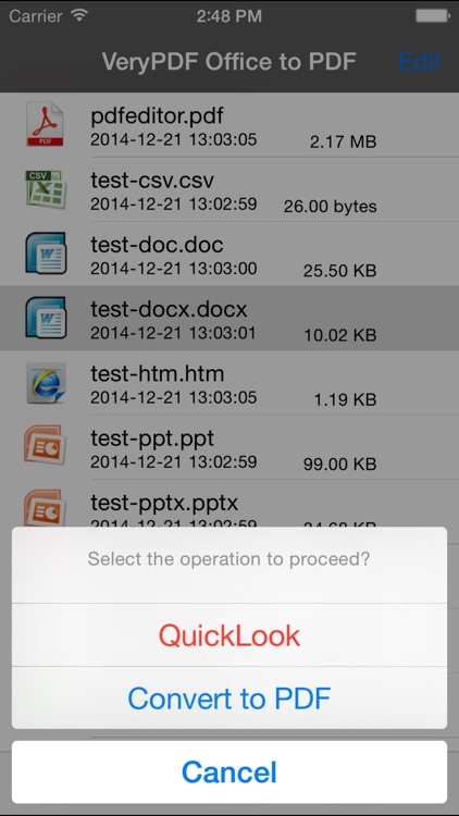 VeryPDF Office to PDF Converter screenshot-4