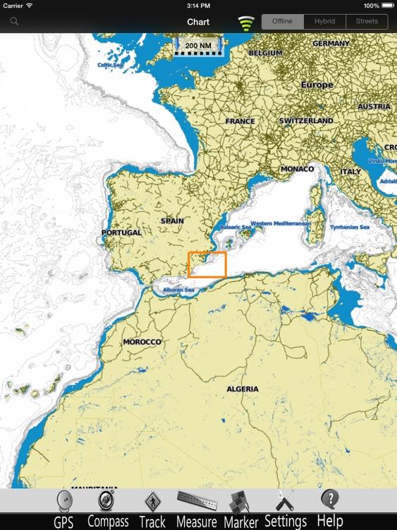 Murcia GPS Nautical Charts Pro screenshot-3