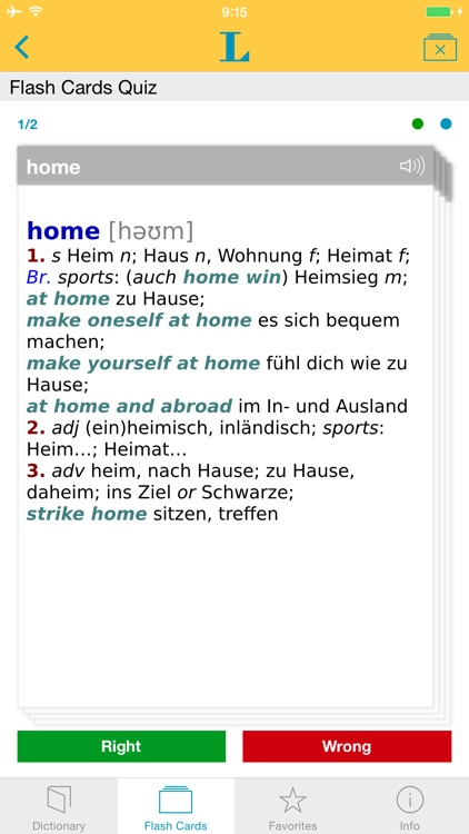 German <-> English Talking Dictionary Basic
