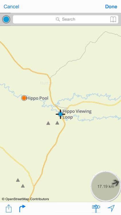 Serengeti : Offline Map. including Masaï-Mara and Ngorongoro National parks