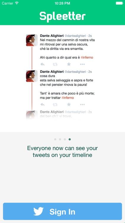 Spleetter - Long Text Tweet Splitter screenshot-3