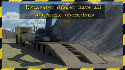 excavadora 3d rescate transportador Simulador estar listo para rescatar a los coches en este juego de alto transportador excavadora potencia extremaCaptura de pantalla de3