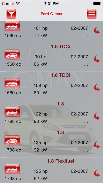 Autoparts Ford C-max screenshot-4