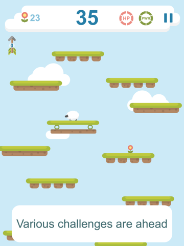 Best Sheep jumps on ladder of platforms with crazy faith-ipad-3