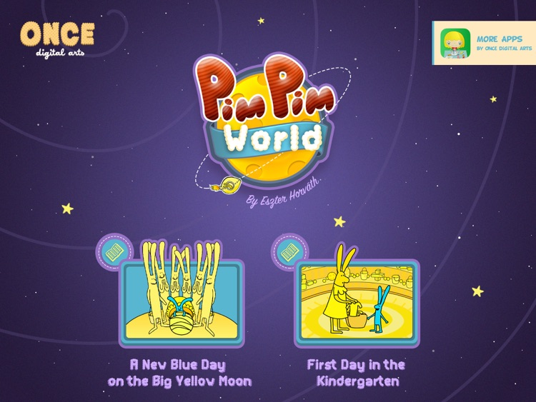 PimPim World: Blue Bunny on the Yellow Big Moon - an interactive storybook for kids screenshot-4