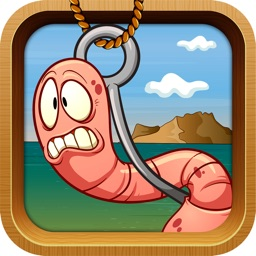 Hooky Worm The challenging Game to get coins and catch a fish For Kids.