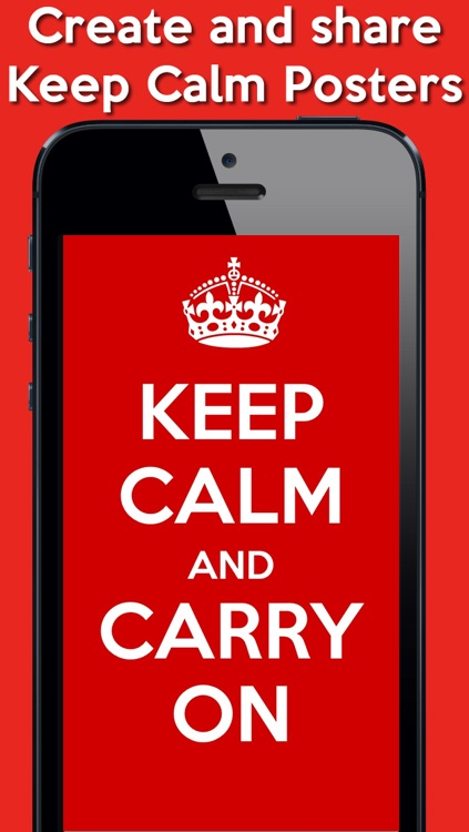 Keep Calm Poster Generator FREE screenshot-0