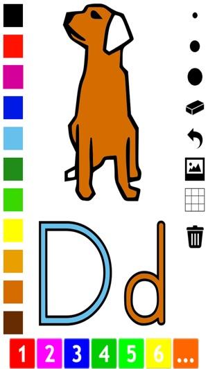 ABC Cuốn sách màu cho trẻ: Học tập để viết và vẽ các chữ cái của bảng chữ cái tiếng Anh với rất nhiều hình ảnh cho các trường học, trường mầm non và mẫu giáo