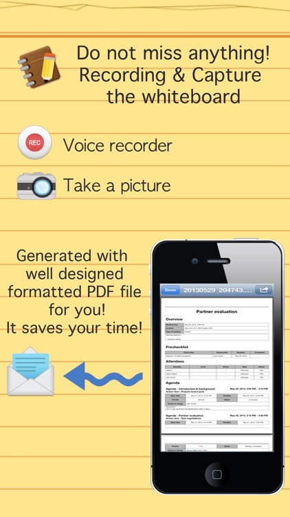 Smart meeting minutes multi sync - Schedule & action item check list screenshot-4