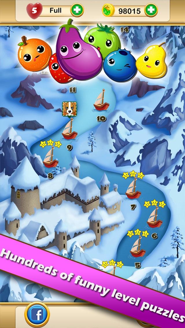 Fruit Legends™ - Free match-3 splash game(200+ levels)! Screenshot