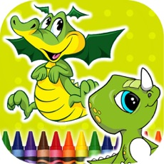 Activities of Coloring Book Dinosaurs