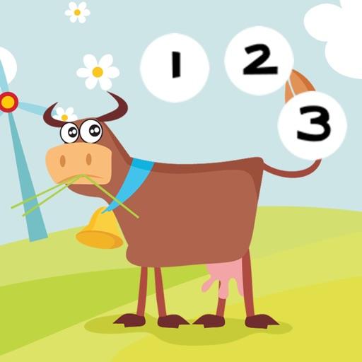 Активность! Игры Для Детей С Животными Фермы: Узнать Подсчитать Количество 1-10