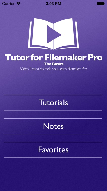 Tutor for Filemaker Pro - The Basics