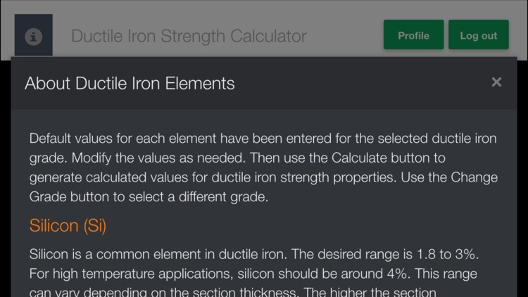 Ductile Iron Strength Calculator by THORS LLC