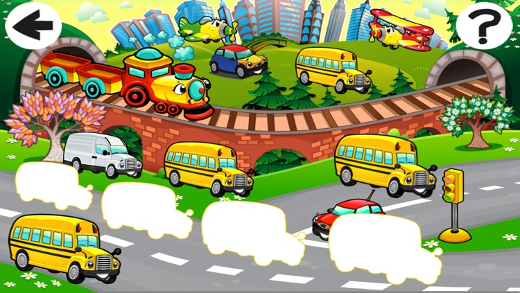 A Sort By Size Game of Cars and Vehicles for Children screenshot-2