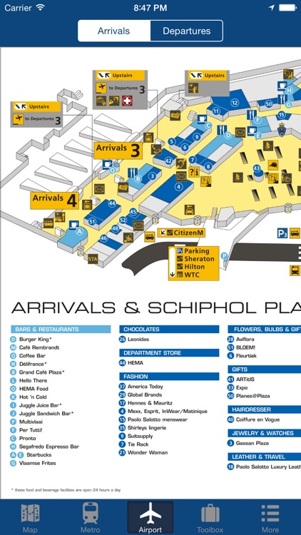 Amsterdam Offline Map - City Metro Airport and Travel Plan
