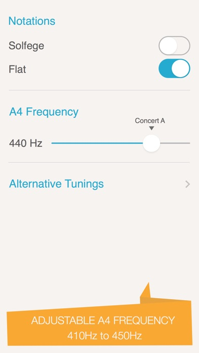 Silvertune: Guitar Tuner Screenshot