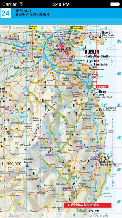 Ireland. Road map