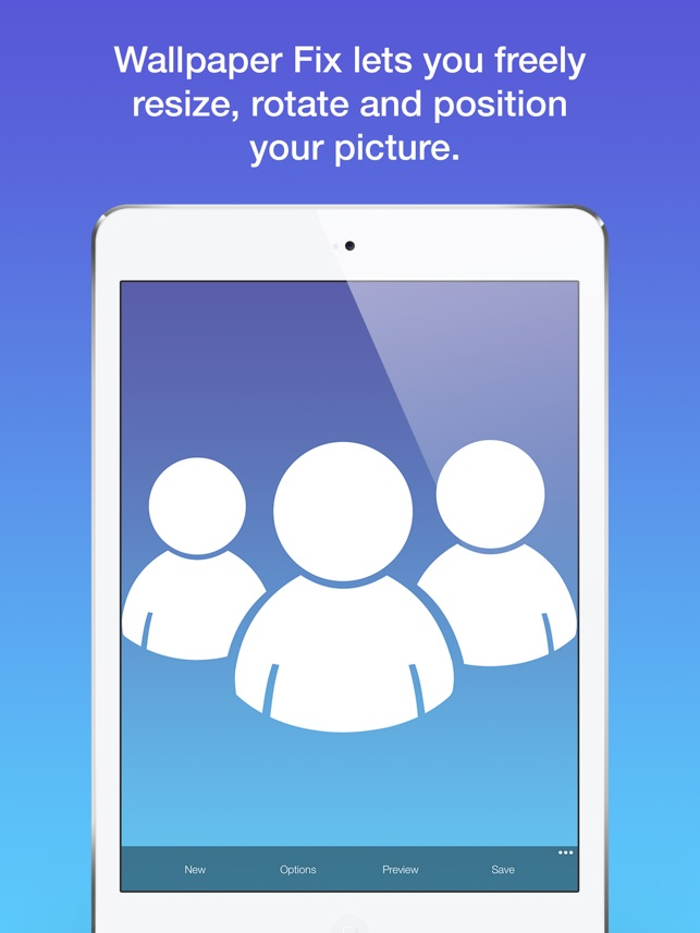 Wallpaper Fix - Scale, zoom, crop and position your custom background photos Screenshot