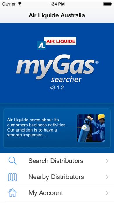 Air Liquide Australia MyGas Screenshot