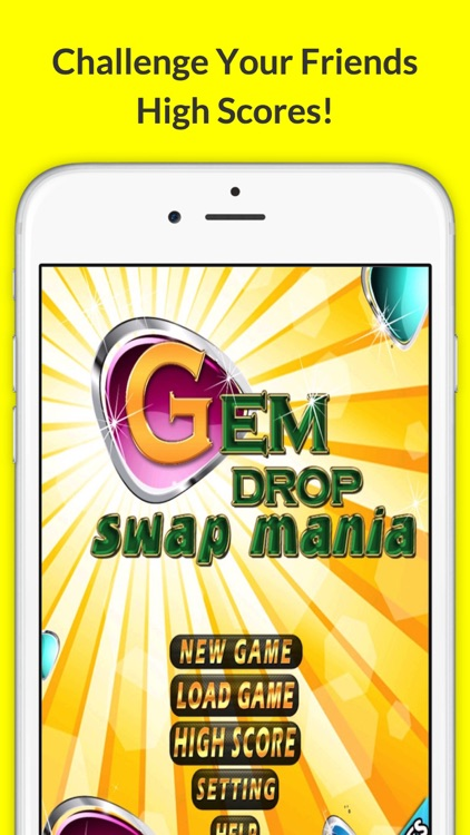 Gem Swap Drop! Pop The Mine Diamond Puzzle Dig-ger with Friends Deluxe 3 screenshot-4
