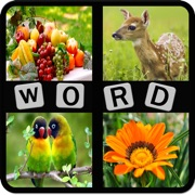 Kids Word Puzzles - Spell to learn Animals, Birds, Fruits, Flowers, Shapes, Vegetables for preschool and kindergarten