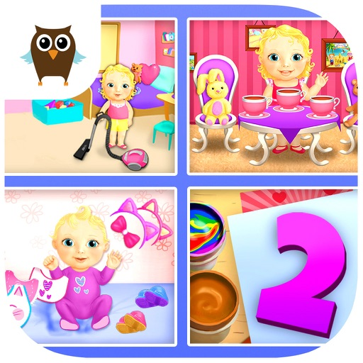 Sweet Baby Girl Dream House 2 Daycare, Cleanup and Playtime - Kids Game