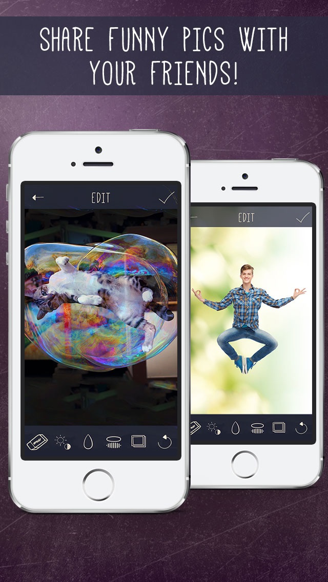 Screenshots of Float - Easier Levitation Illusion Images! DIY Superimpose Floating Tool for Photo.shop for iPhone
