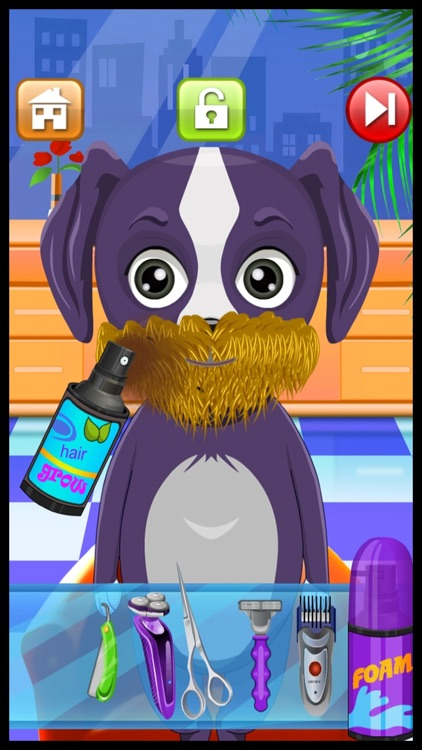 Animal Shave Pet Hair Salon Game for Kids Free screenshot-3