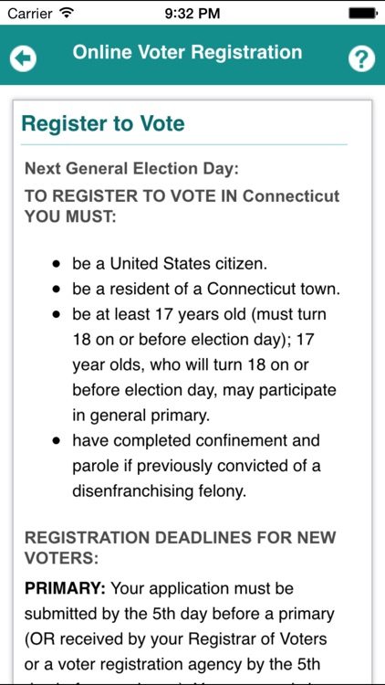 CT Voter Registration