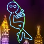氖 城市 摆动 : 发光 抹布 娃娃 非常 飞 同 绳