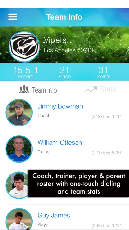 Gamer - A soccer team sports management app for the Team Mom, Admin, Coach, and Player