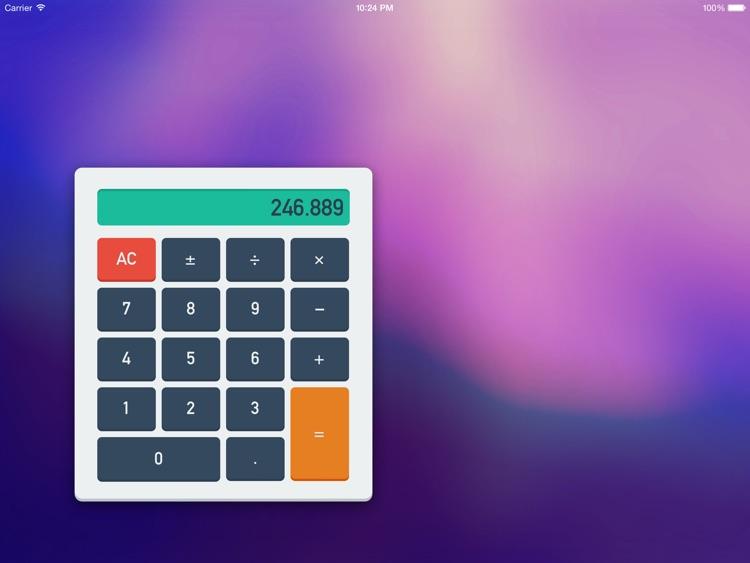 Calculator for iPad — Move it, calc it